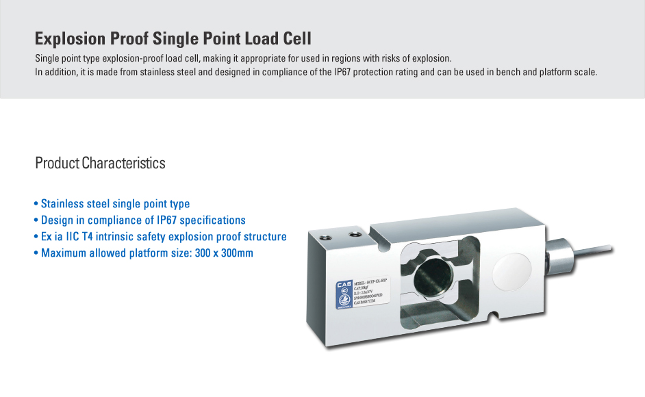 CAS Load Cell - Explosion Proof Type  6