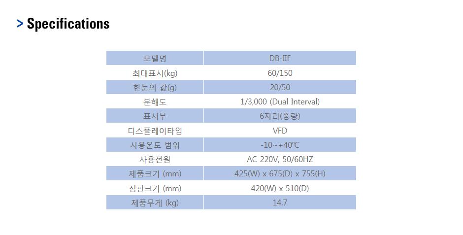 카스 벤치형 저울 DB-ⅡF 1