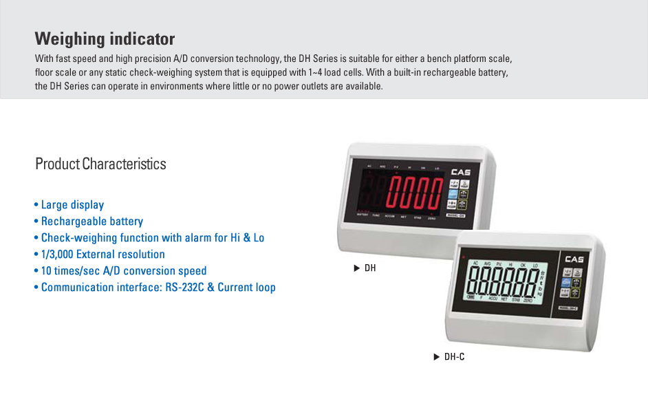 CAS Weighing Indicator DH, DH-C