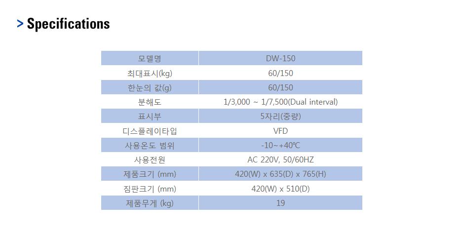 카스 벤치형 저울 DW-150 1