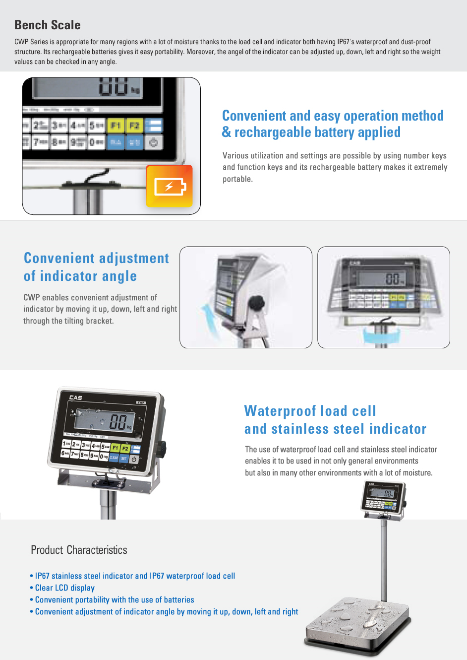 CAS Bench Scale CWP Series