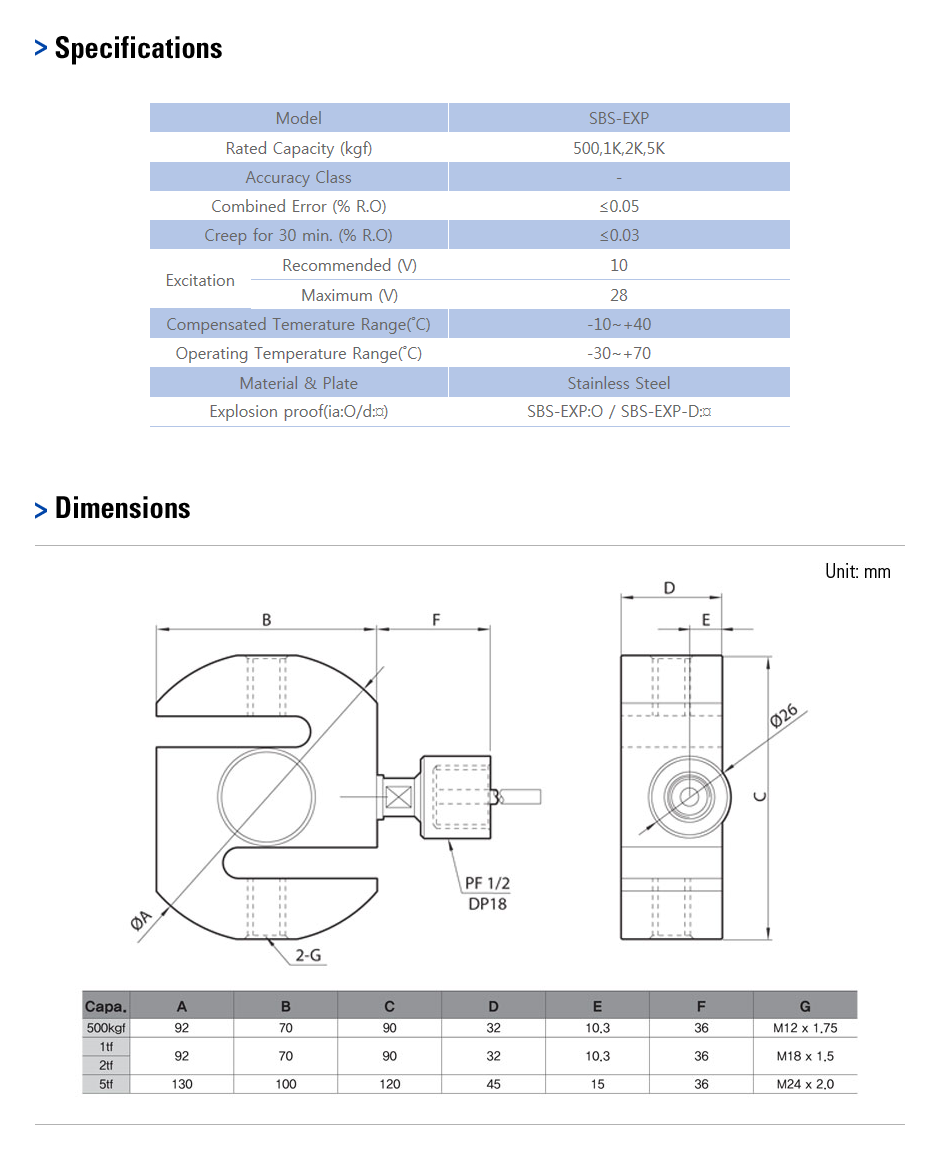 CAS Load Cell - Explosion Proof Type  16