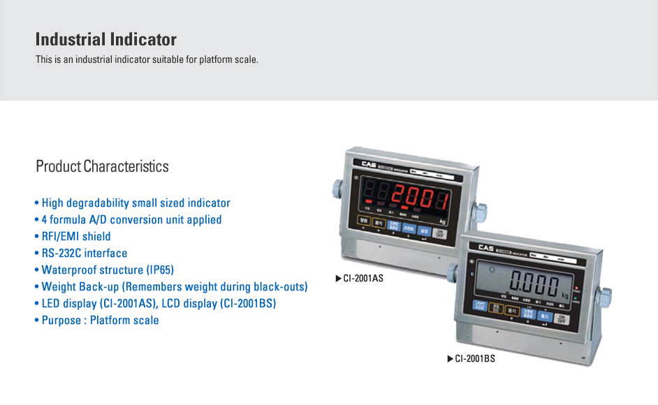 CAS Industrial Indicator CI-2001AS/BS