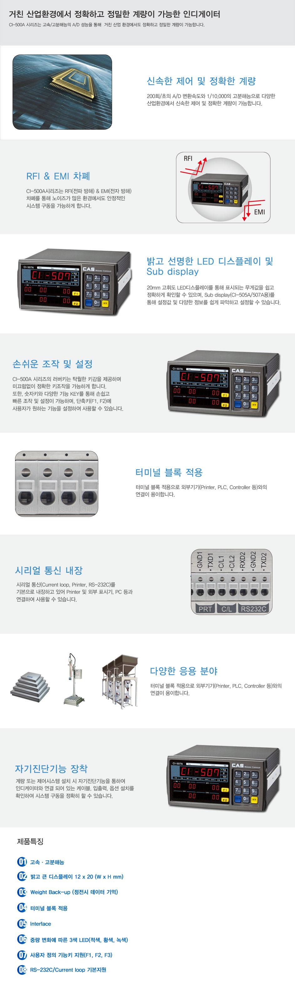 카스 산업용인디케이터 CI-500A Series 4