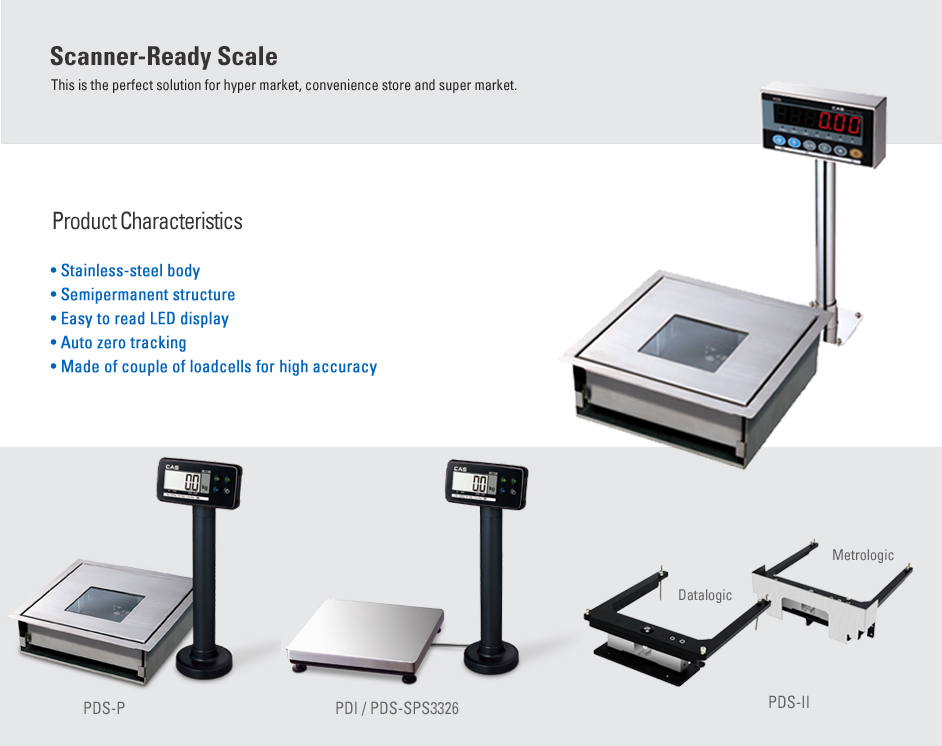 CAS Counter Scale (Scanner-Ready Scale) PDS Series