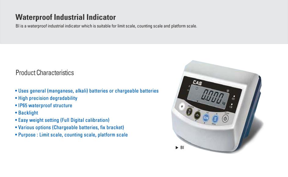 CAS Waterproof Industrial Indicator BI