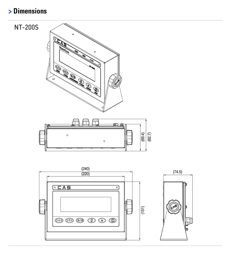 CAS Industrial Indicator NT-200S/201S 1