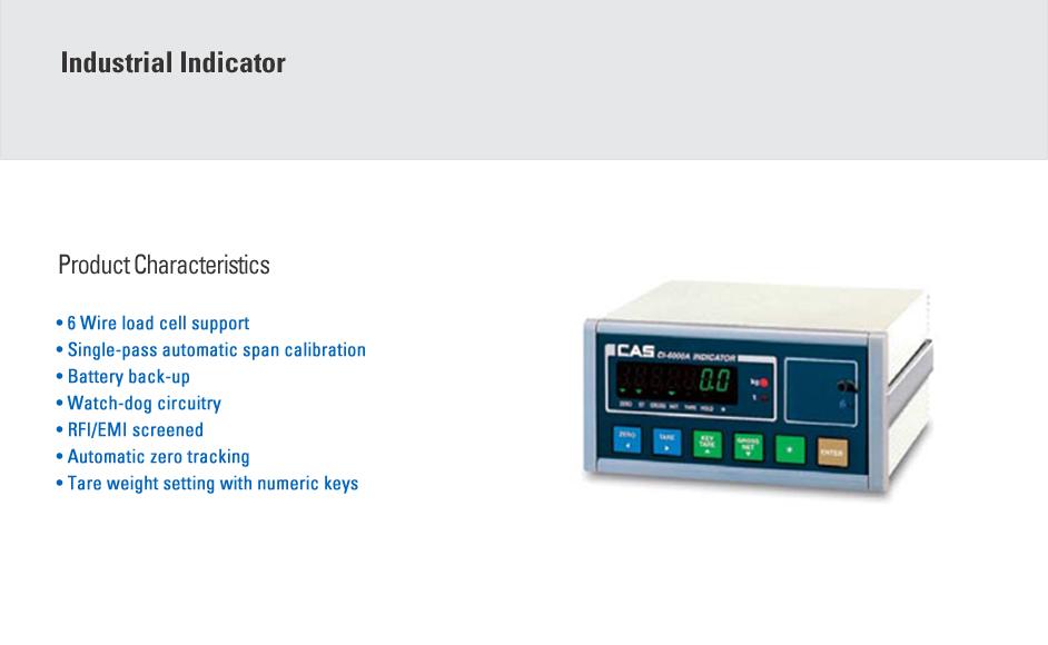 CAS Industrial Indicator CI-6000A1