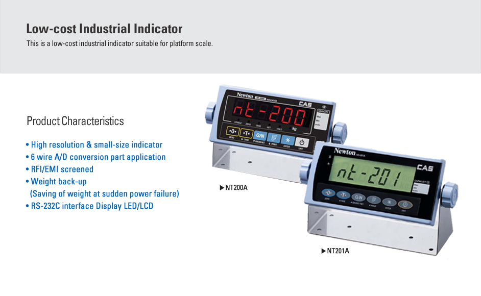 CAS Industrial Indicator NT-200A/201A