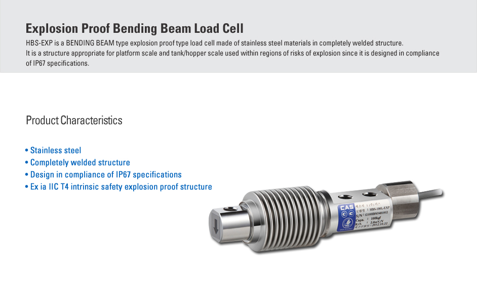 CAS Load Cell - Explosion Proof Type  9
