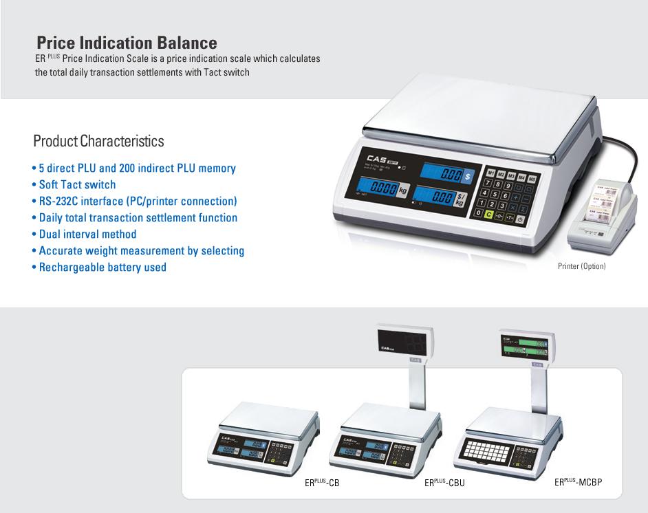 CAS Price Computing Scale ER PLUS