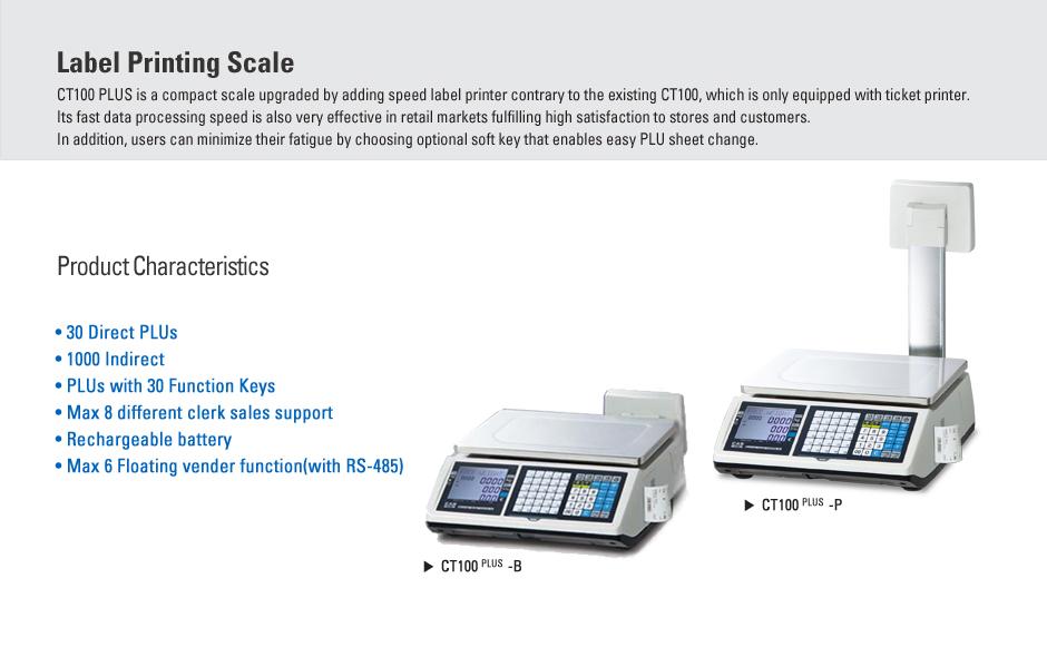 CAS Label Printing Scale CT100PLUS