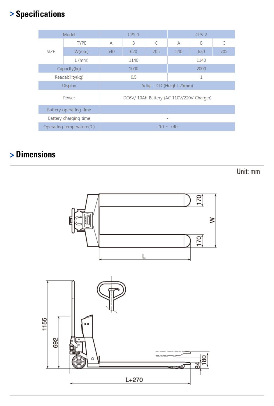 CAS Pallet Scale CPS-1/2 1