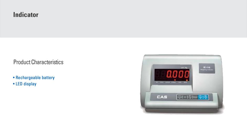 CAS Waterproof Industrial Indicator IE-116 PLUS