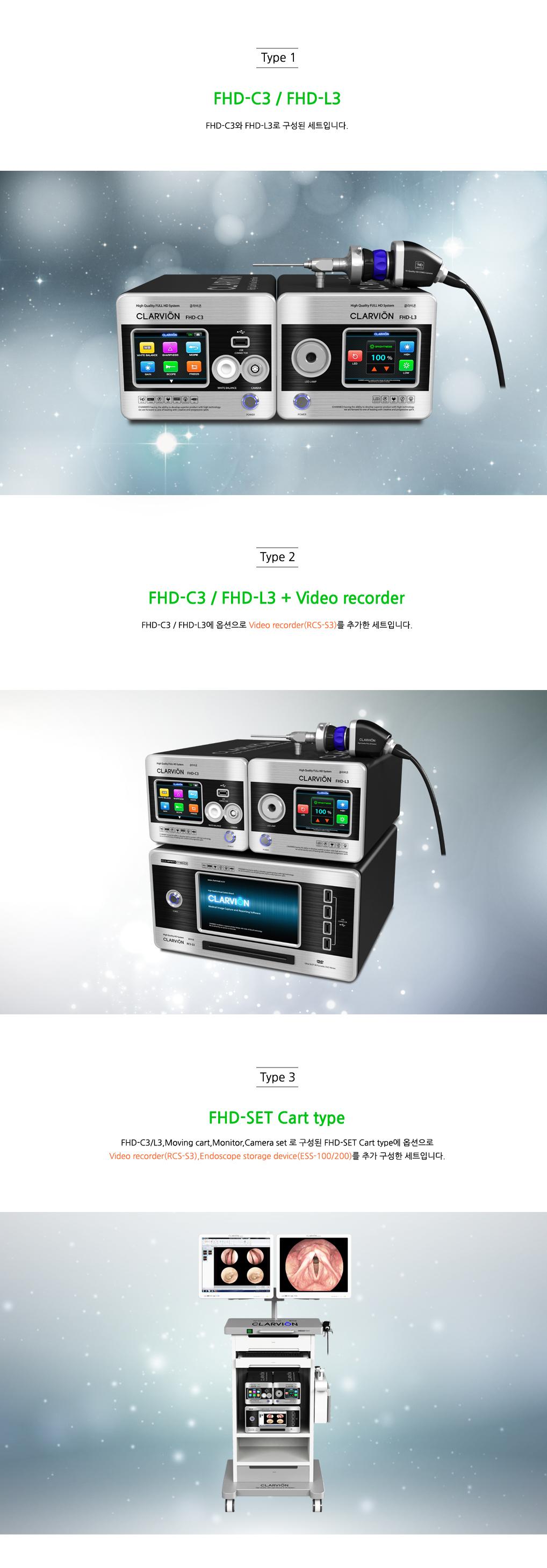 (주)참메드 Endoscopic System (Full HD) FHD-C3/L3 2