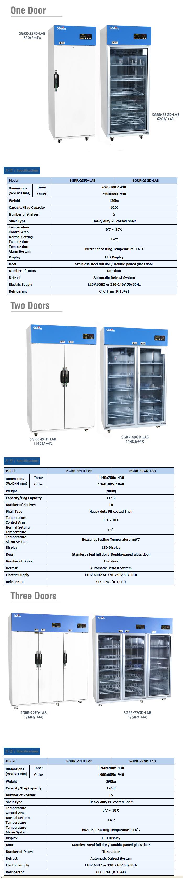 (주)창신테크 실험실 냉장고 SGRR-LAB-Series 3