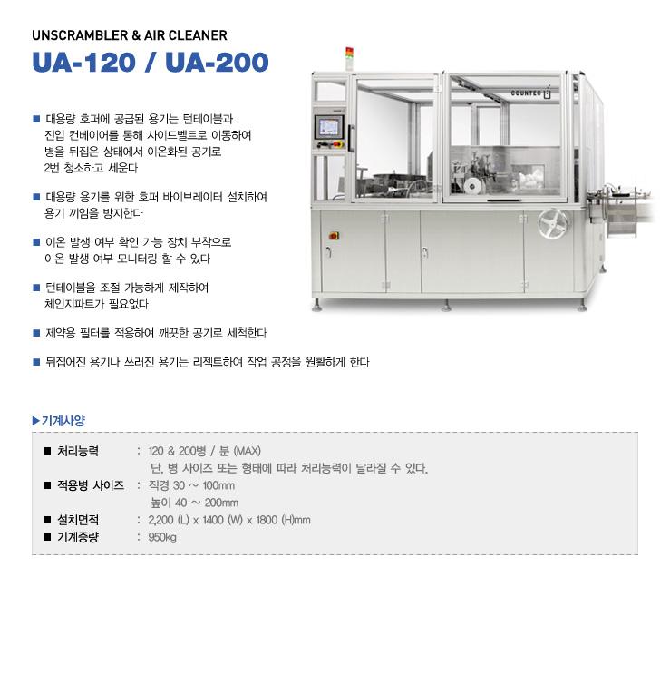 (주)카운텍 Unscrambler & Air Cleaner UA-120, UA-200 1