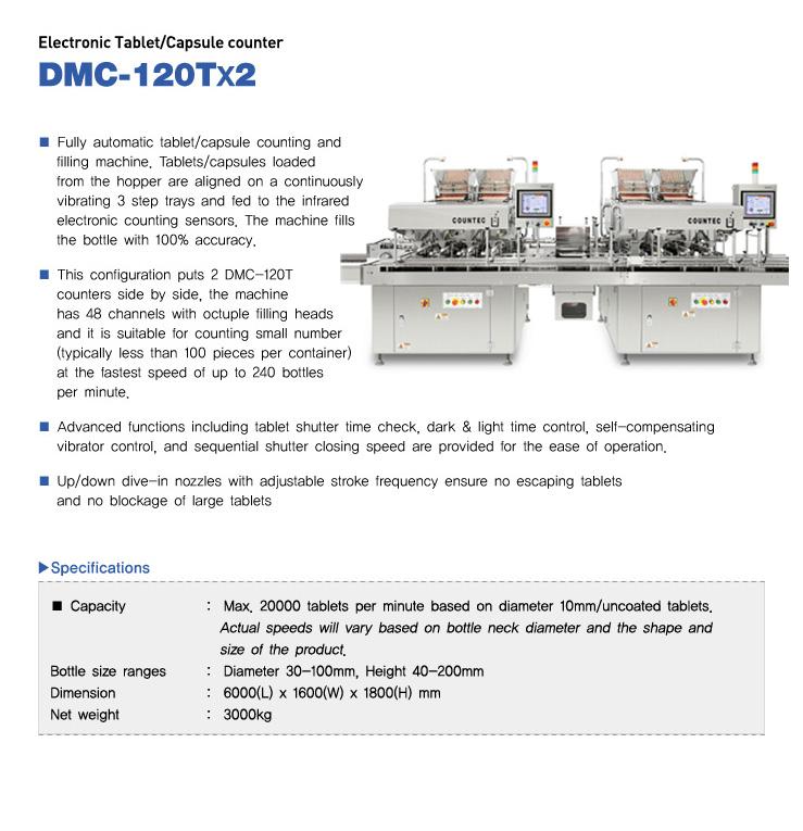 COUNTEC Eletronic Tablet / Capsule counter DMC-120Tx2