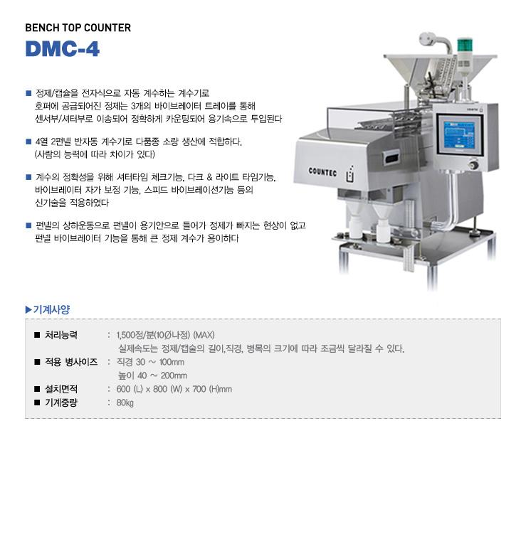 (주)카운텍 Bench Top Counter DMC-4 1