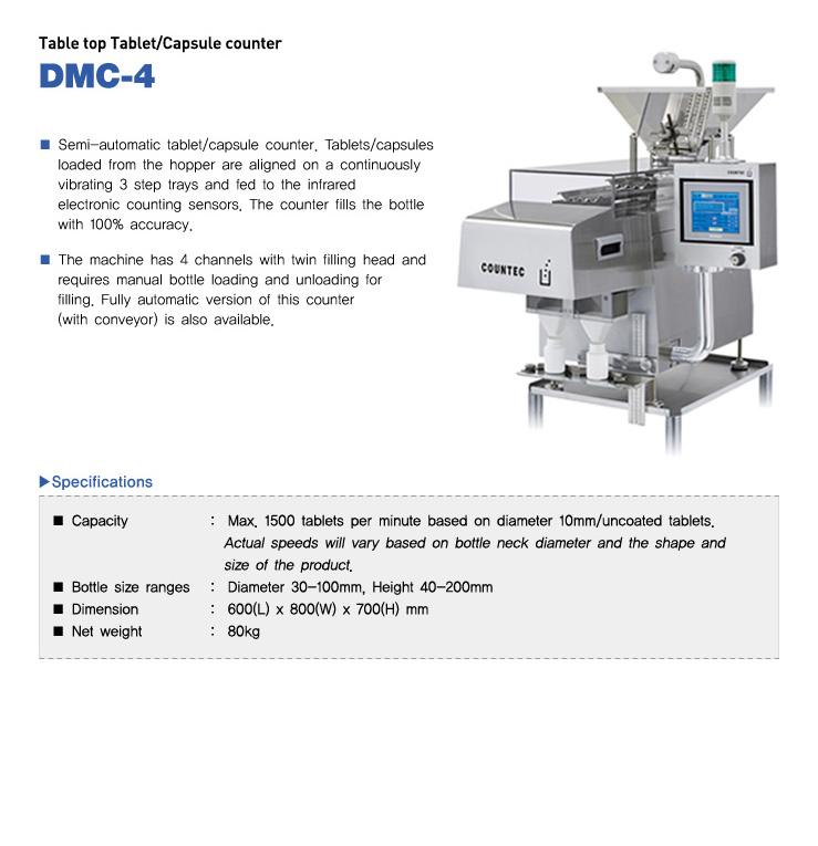 COUNTEC Table top Tablet / Capsule counter DMC-4