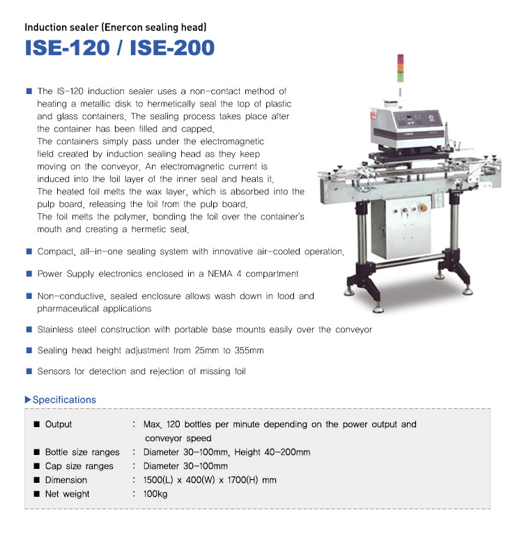 COUNTEC Induction Sealer (Enercon Sealing Head) ISE-120, ISE-200