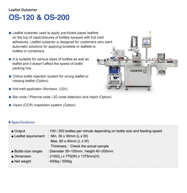 COUNTEC Leaflet Outserter OS-120, OS-200
