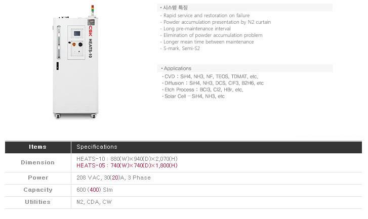 씨에스케이(주) Thermal & Wet System HEATS-05, HEATS-10 1