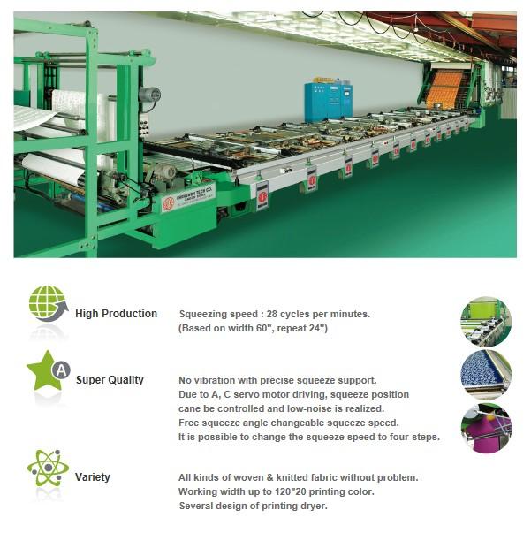 CHANGWON TECH Automatic Flat Screen Printing M/C CW-1100Y