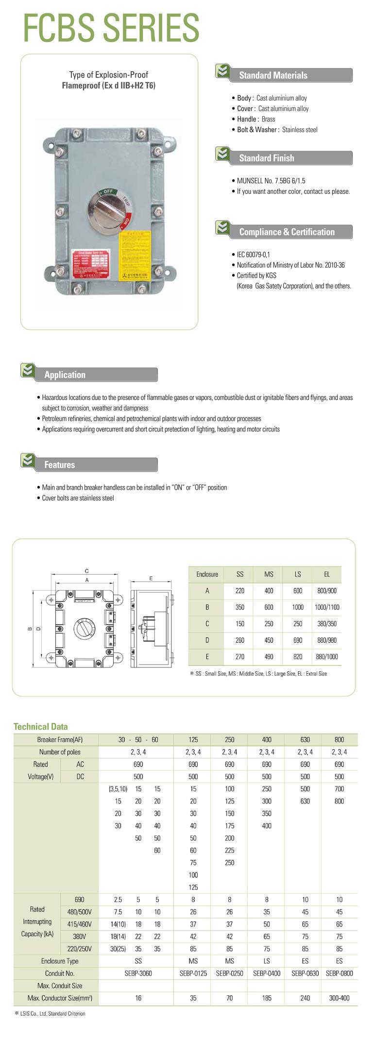Samik Explosi Onproof Elxctric  FCBS Series