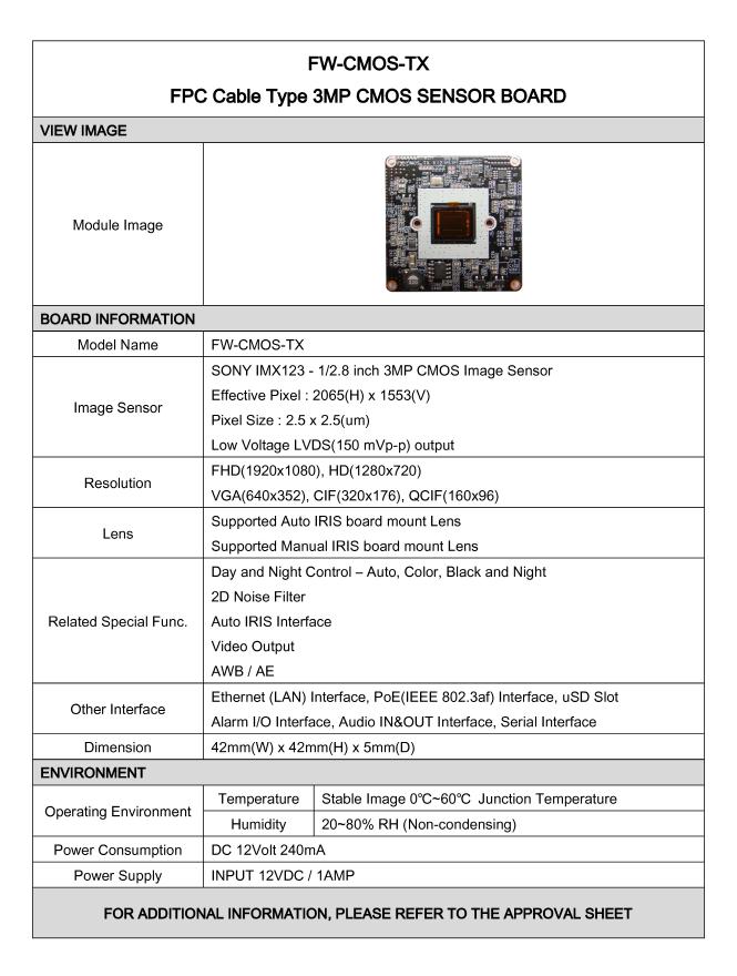 Seyeon Tech CMOS Sensor Board  3
