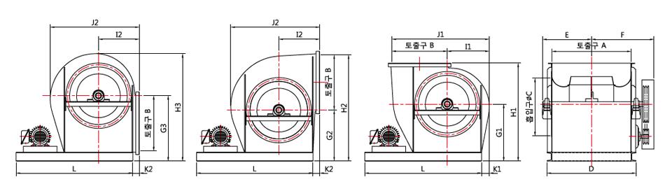대륜산업 벨트 구동형 에어포일팬 DR-AF Series 2