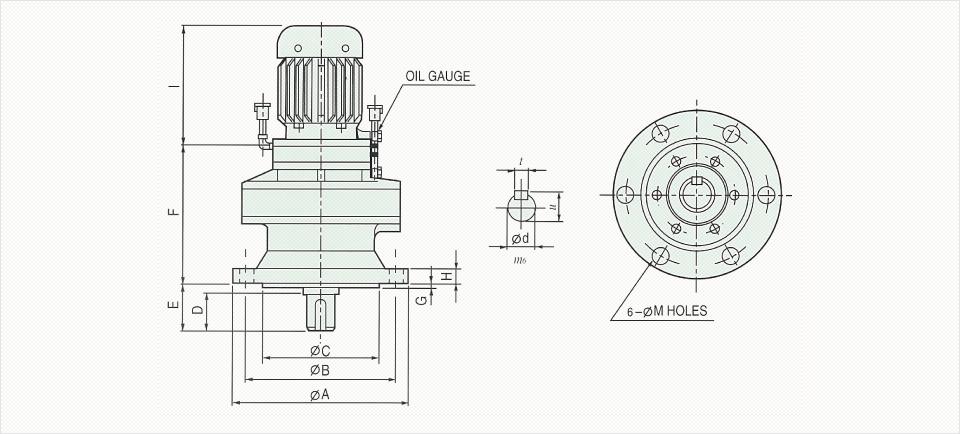 창신기계제작소 싸이크로이드 감속기 - Vertical Reducer  2