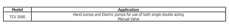 DaeJin Hydraulic Machinery Manual Valve TCV 2000