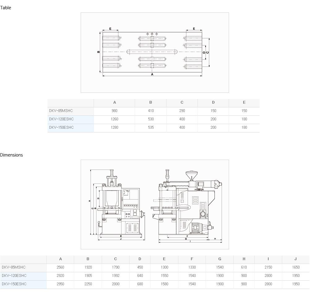 DAEKYUNG HYDRAULIC Slide Table with Vertical Center DKV-MSHC / ESHC 2