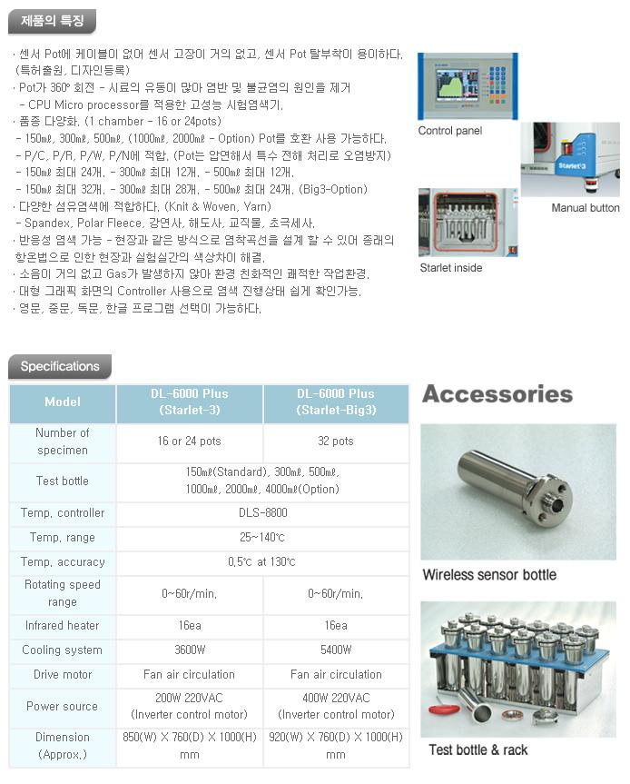 대림스타릿(주) 적외선 염색 시험기 DL-6000 Plus Series 1