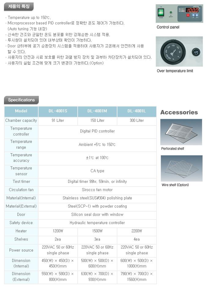 대림스타릿(주) 강제순환 건조기 DL-4001 Series 1