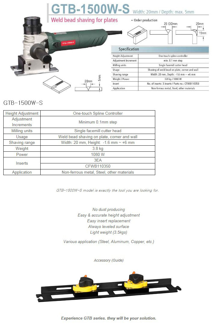 DAESUNG GT Bead Shaving GTB-1500W-S