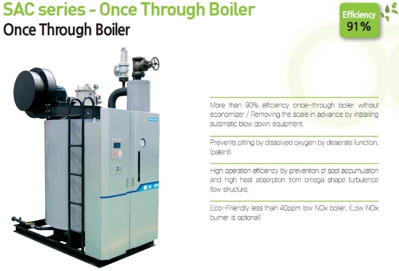 DAEYEOL BOILER Once Through Boiler SAC-Series