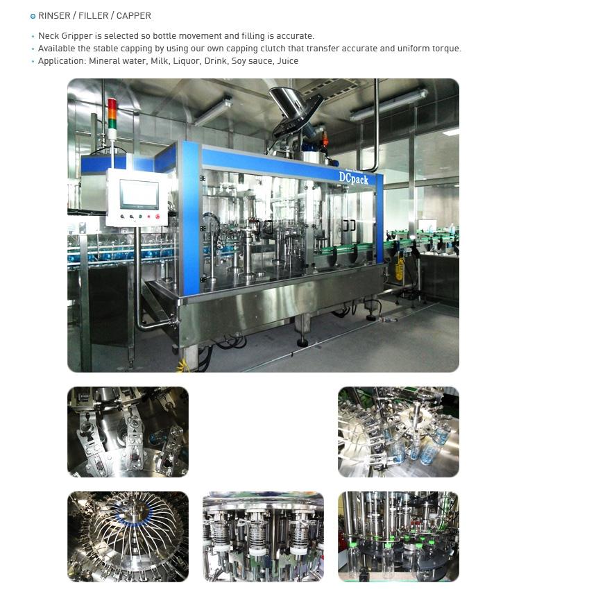 DC PACK Rinser / Filler / Capper System