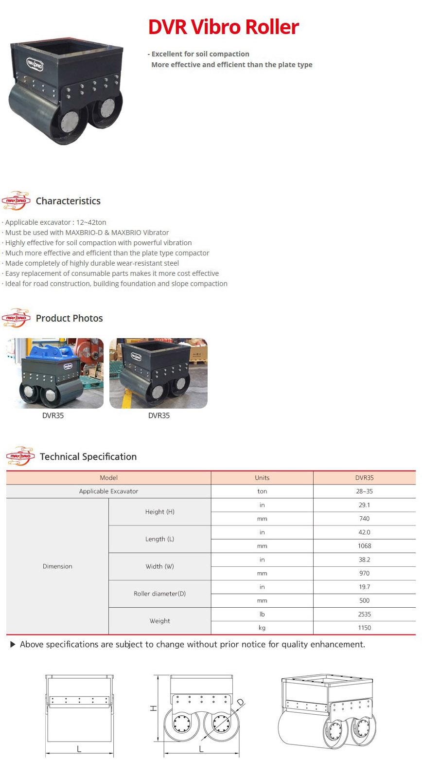 DAEDONG ENGINEERING DVR Vibro Roller