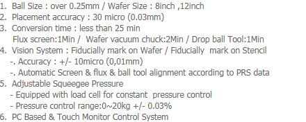 AP-Tech Wafer Level Ball Mount System WBM-10