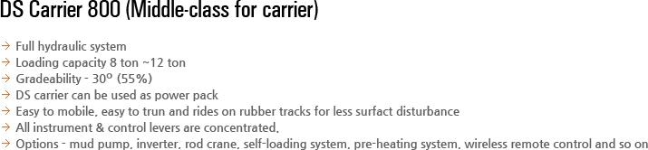 DESCO INC DS Carrier DSC-800