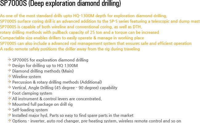 DESCO INC Deep Exploration Drilling Equipment SP7000S