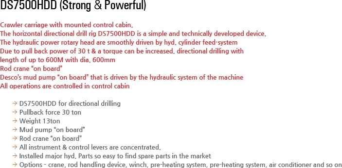 DESCO INC Horizontal Directional Drill Rig DS7500HDD