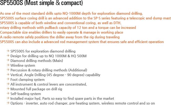 DESCO INC Exploration Drilling Equipment SP5500S