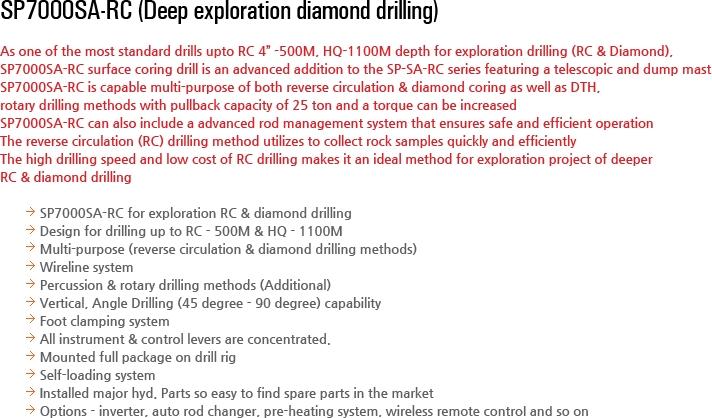 DESCO INC Multi-purpose Drilling Equipment SP7000SA-RC