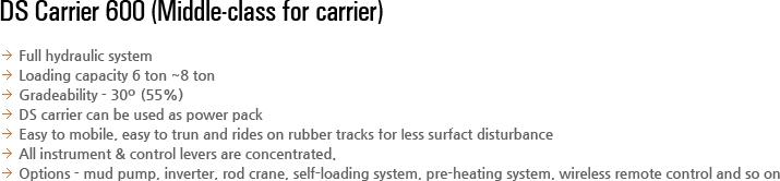 DESCO INC DS Carrier DSC-600