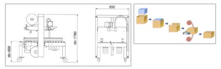 듀팩코리아 반자동 테이핑기 DP-401 / DP401-S 1