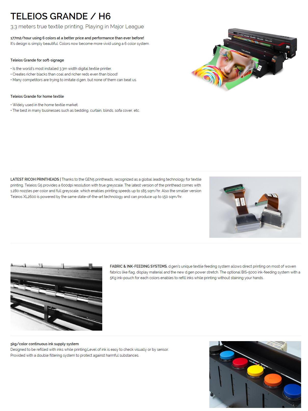 DGEN Printer TELEIOS GRANDE / H6