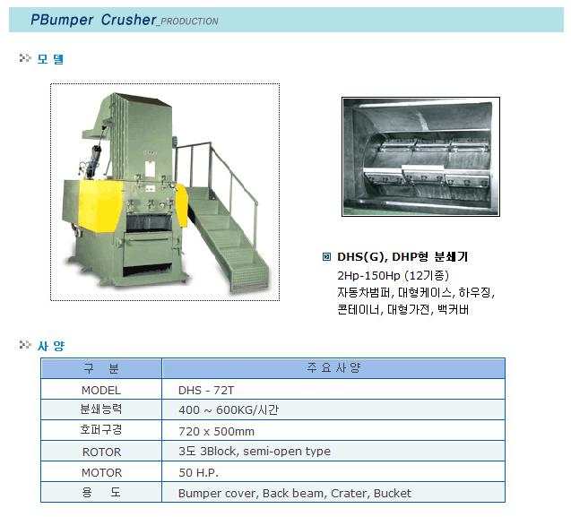 대흥정공 Bumper Crusher DHS-72T